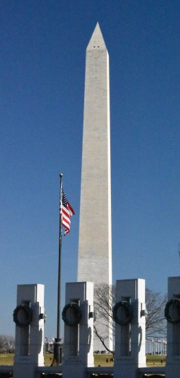 Washington Monument with World War 2 Memorial in foreground
