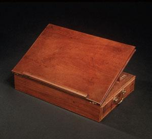The desk where Jefferson wrote the Declaration of Independence